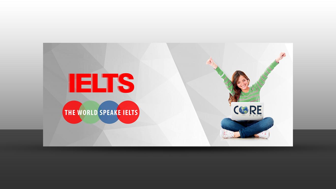 IELTS banner design