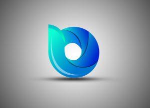 3d round logo template